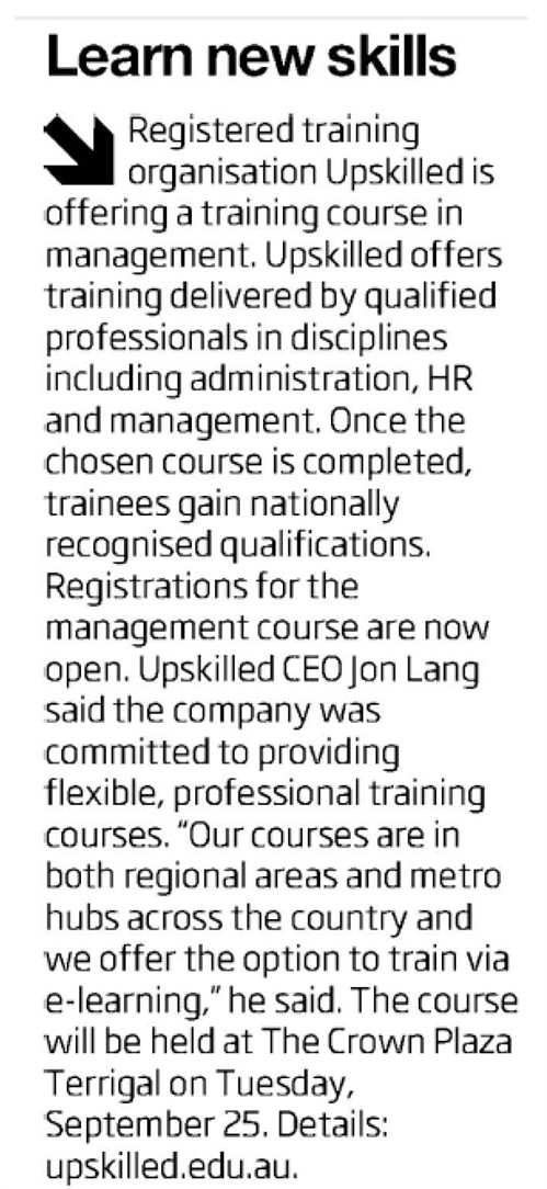 Central Coast Express Advocate Learn New Skills Article Clipping