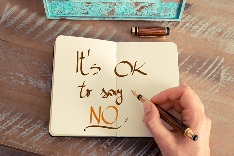 it's ok to say no concept