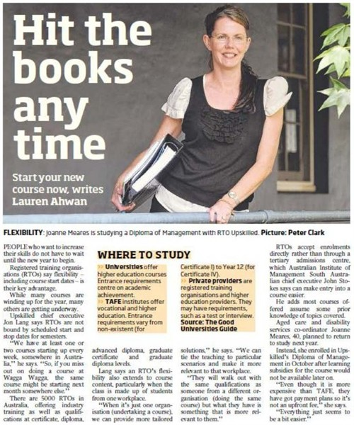 Daily Telegraph article - Hit the books any time