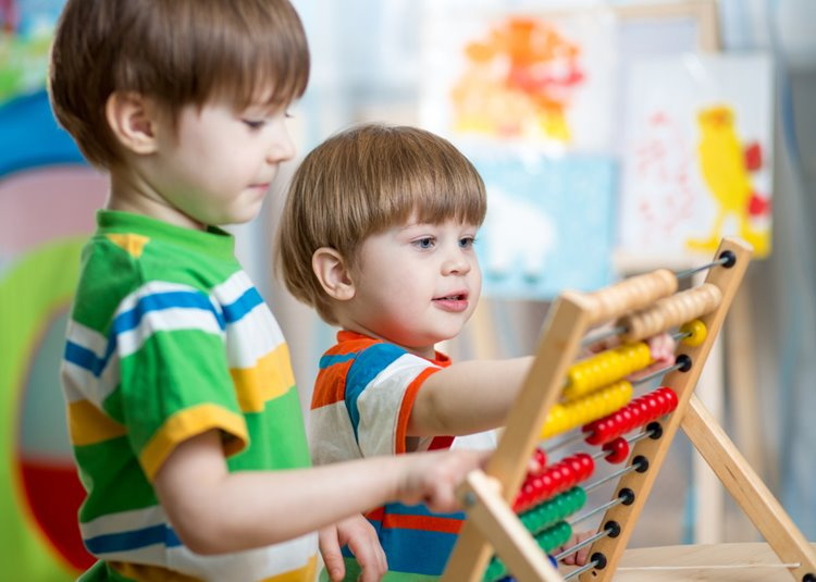 two young boys playing at childcare