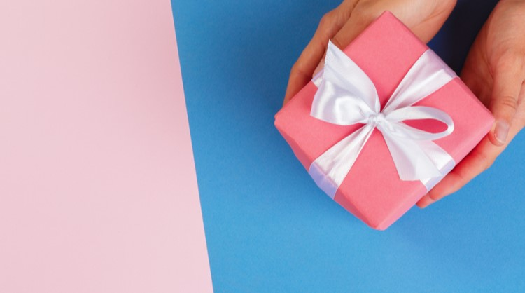 beautifully wrapped gift