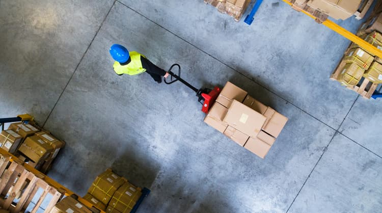 employee working in warehouse