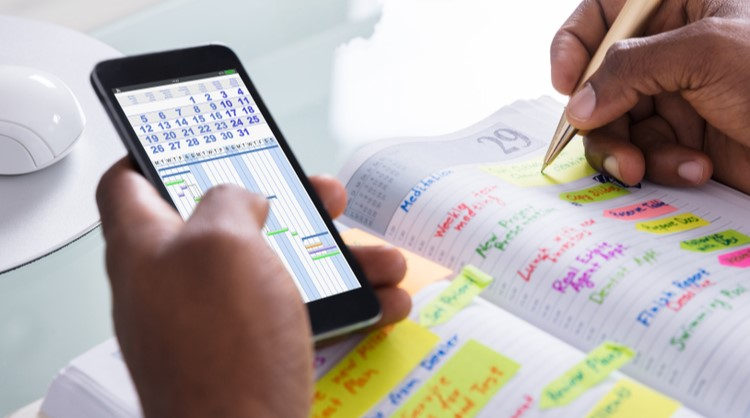 event planning using diary